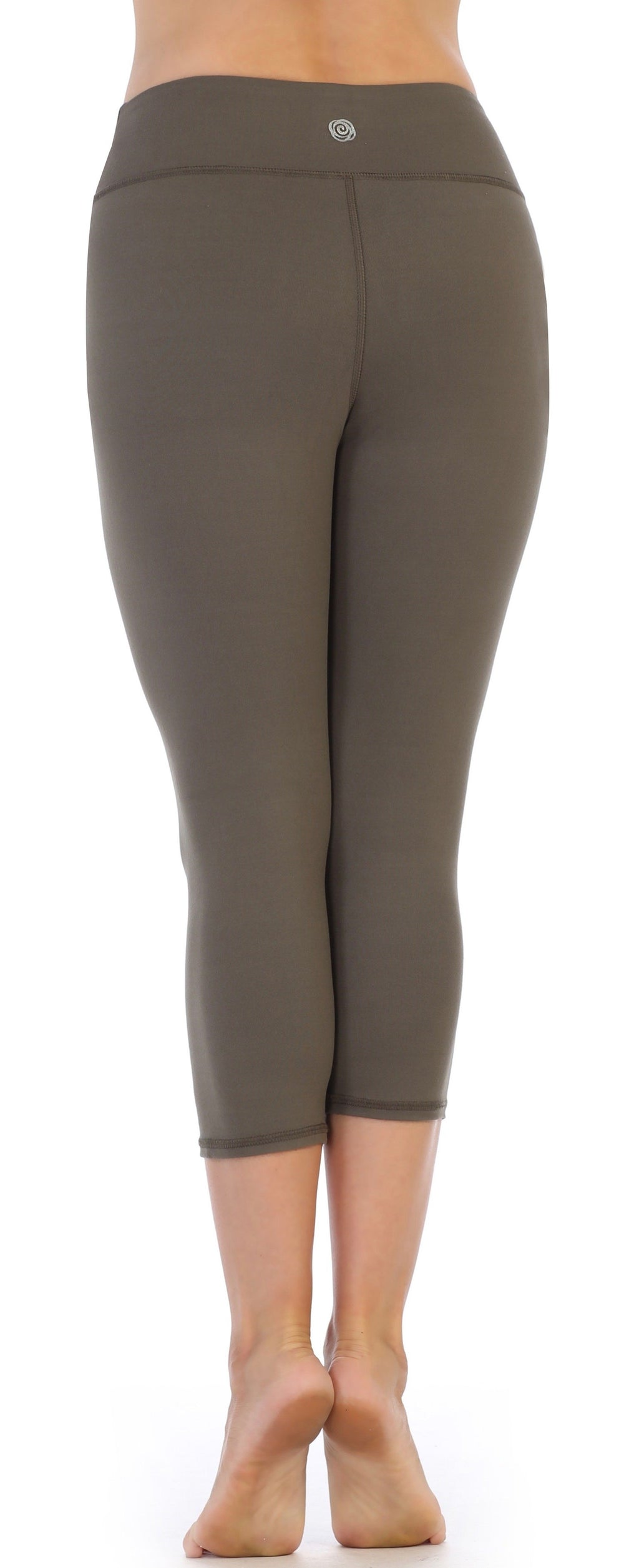 Olive Latte High Waist Compression ¾ Leggings