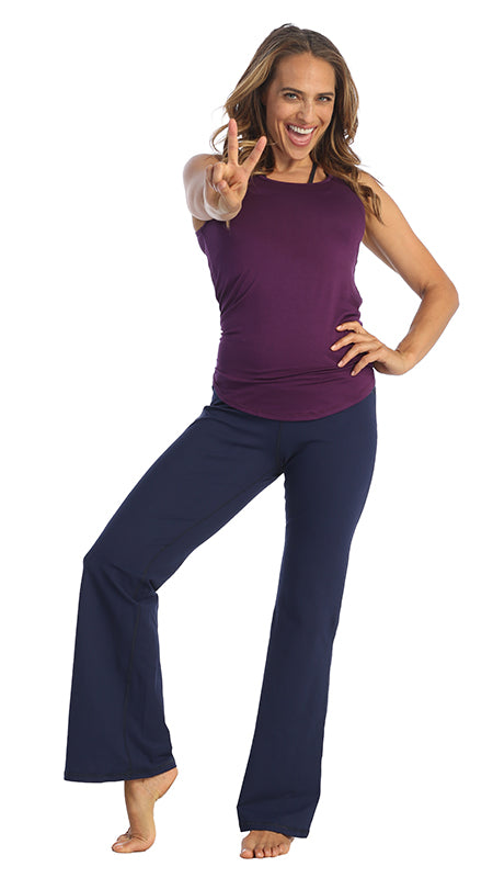 Navy-Bootleg Yoga Pant-American-Fitness-Couture