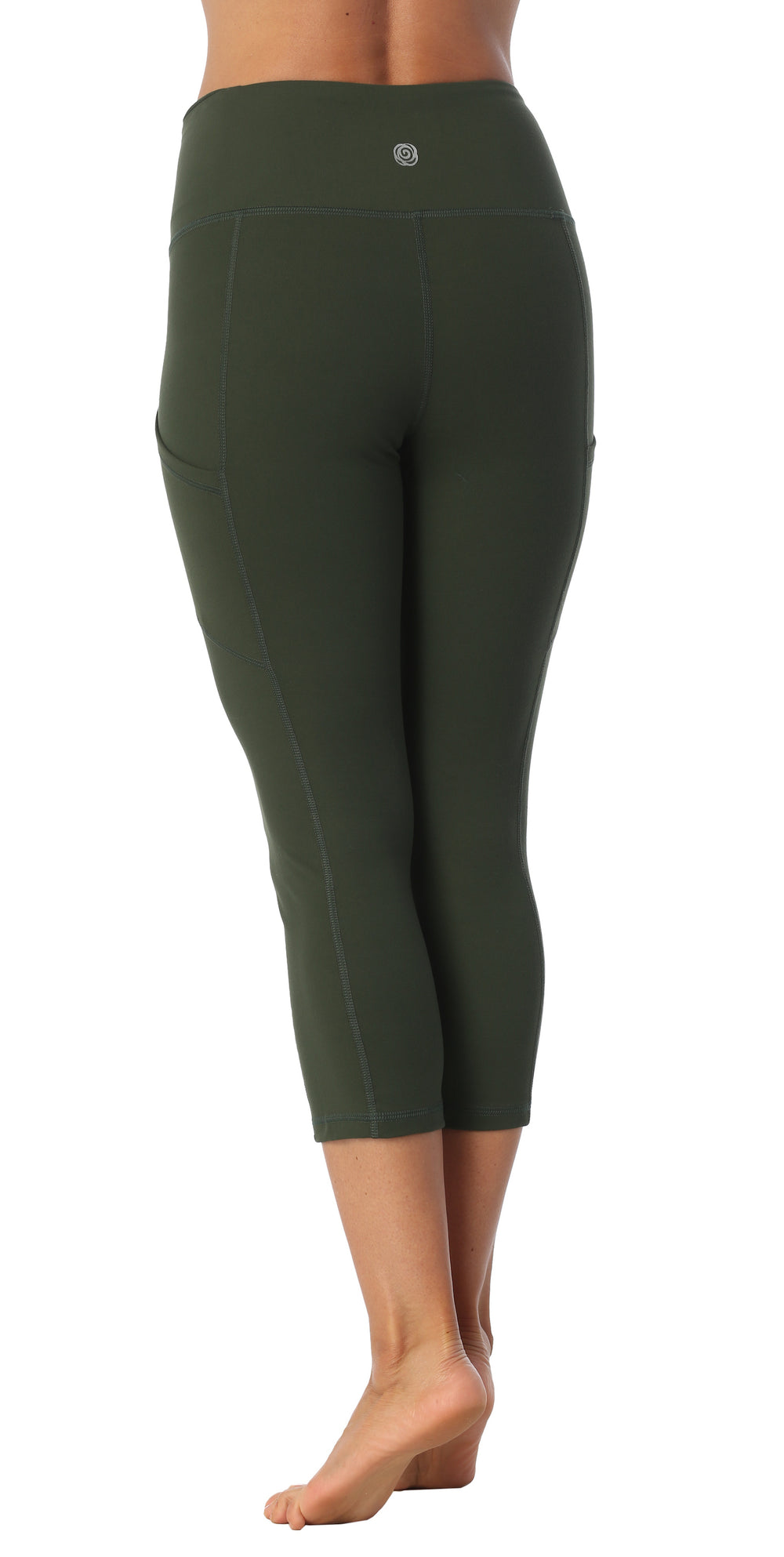 High Rise Compression ¾ Length Pocket Leggings