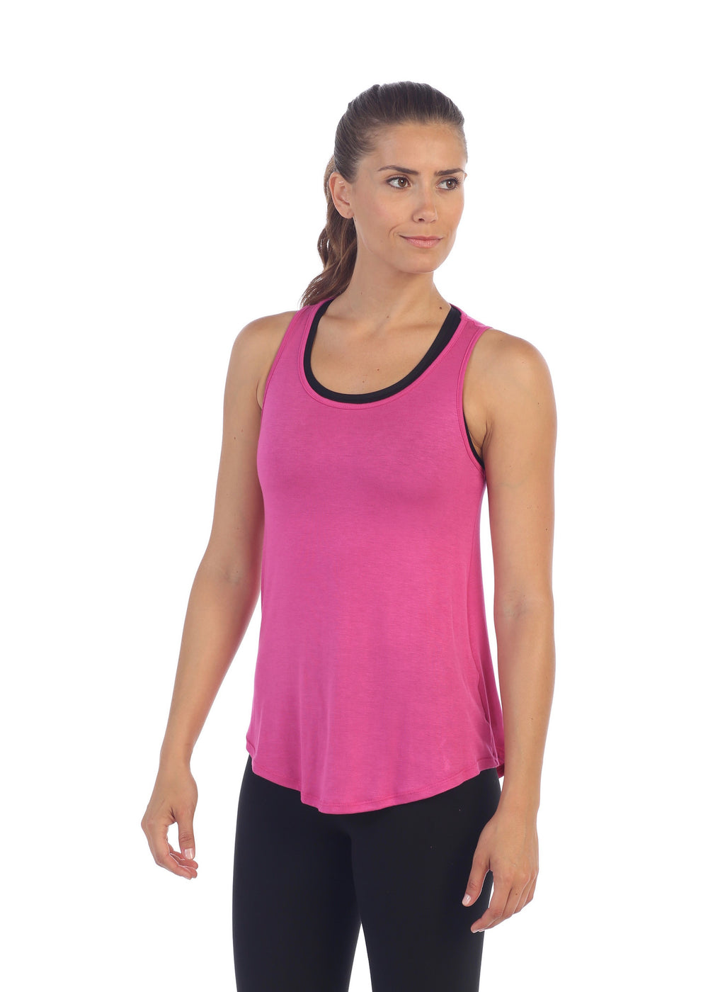 Fuchsia, Get Shredded Back Workout Tank Top, American Fitness Couture, front image