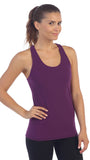 Plum-Racerback Workout Tank Top
