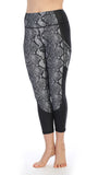 Python Ultra-Soft Color Block 7-8 Pocket Leggings-front image
