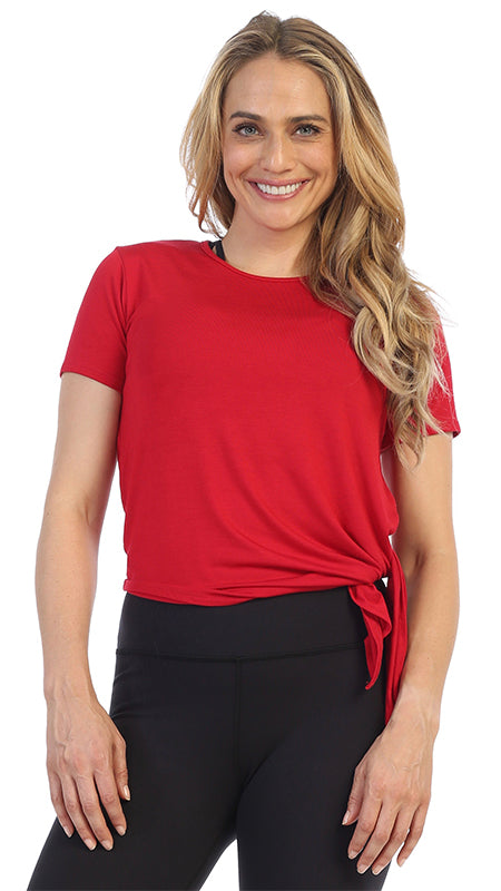 Certified Organic Silky Soft Bamboo Side Tie Tee