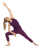 Plum-Pocket Yoga Leggings-Triangle Pose
