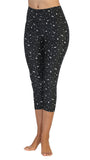 Stars-Moon-Capri-Print Leggings