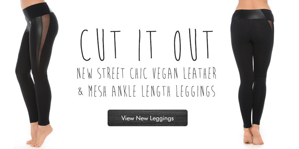 Shop for cut out mesh athleisure leggings