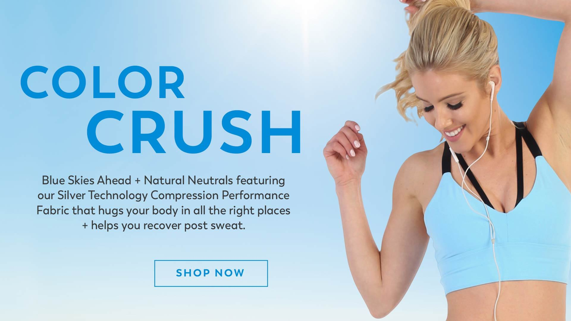 New Arrivals American Fitness Couture Blue Sky and Latte Colors