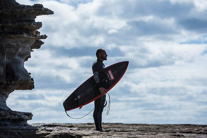 dion agius and taj burrow surfing in western australia for globe