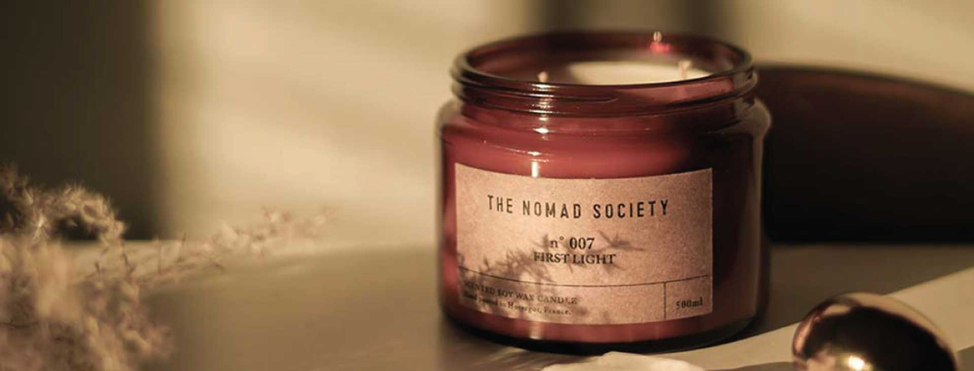 the nomad society soy organic candles