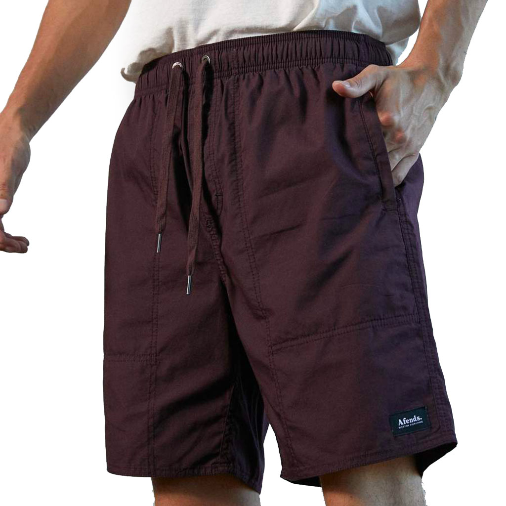 Afends Baywatch Classics Elastic Waist Boardshort - Mulberry