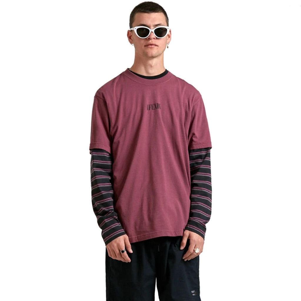 Afends Bleach T-Shirt - Redwood