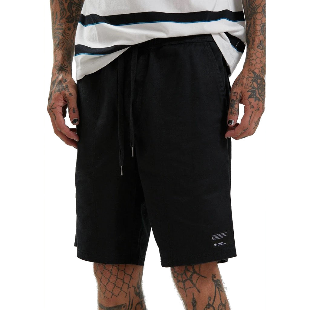 Afends Dendy Hemp Walkshorts - Black