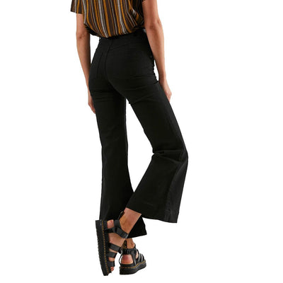 Afends Marsha Twill Flared Jeans - Black