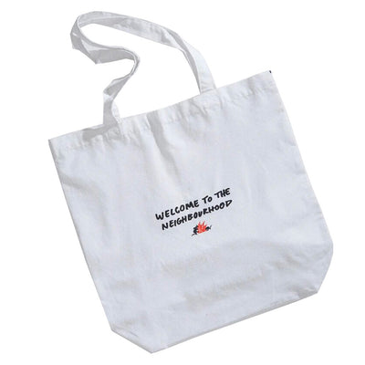 Afends Neighbourhood Threat Tote Bag - White