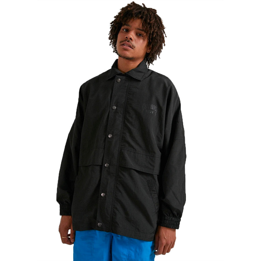 Afends Recycle or Die Spray Jacket - Black