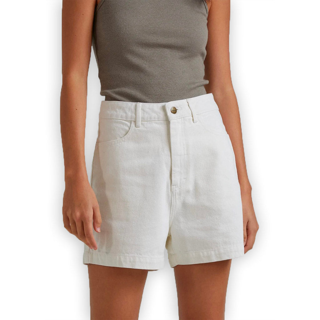 Afends Seventy Threes Organic Shorts - Off White