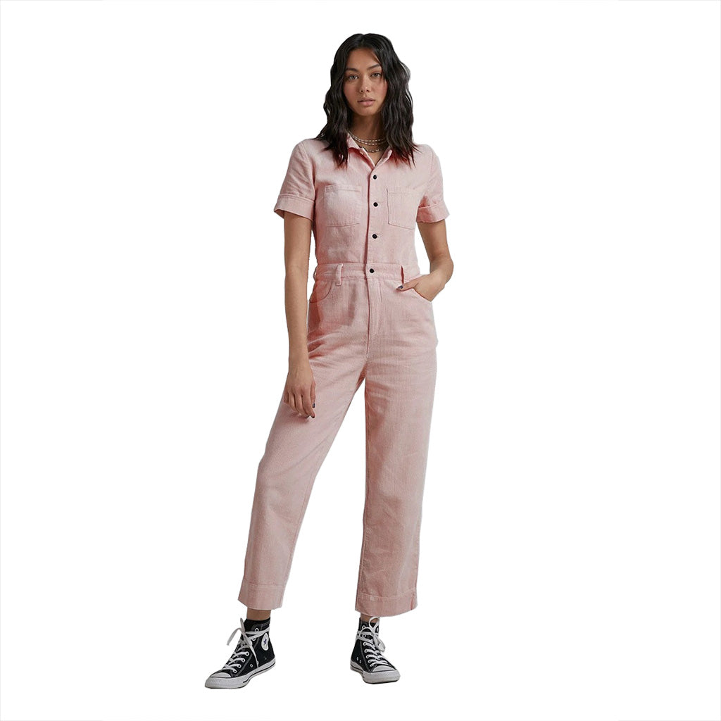 Afends Shelby Hemp Corduroy Jumpsuit - Ash Pink