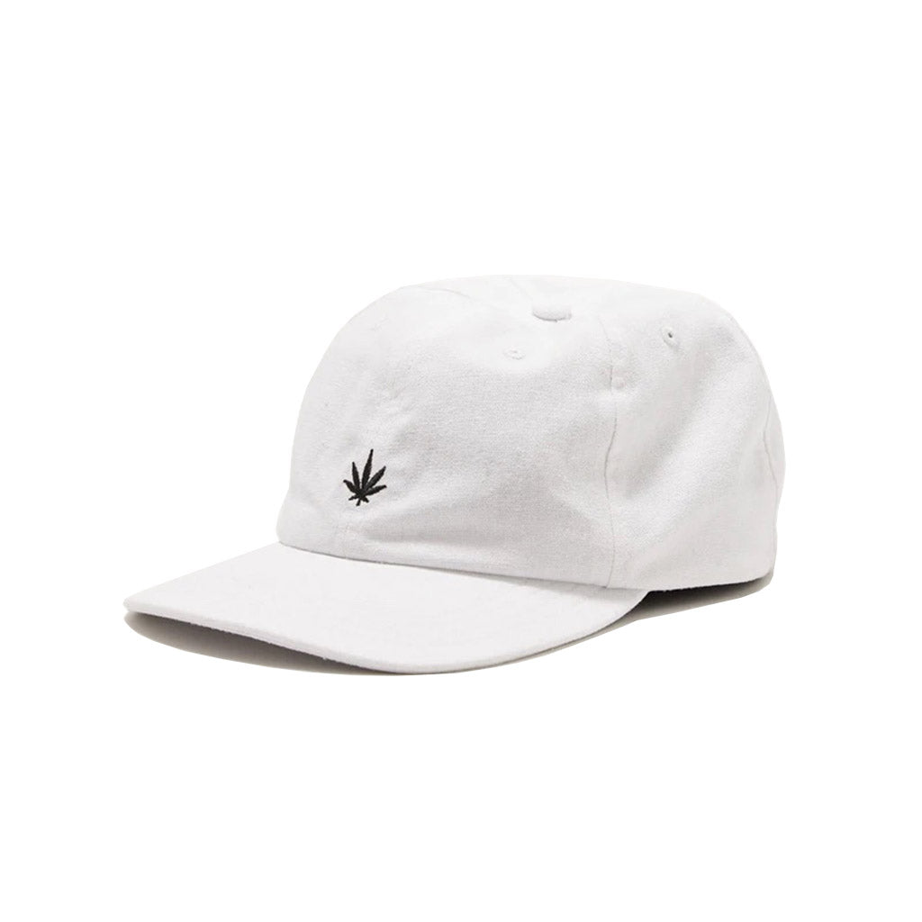 Afends THC Hemp 6 Panel Cap - White