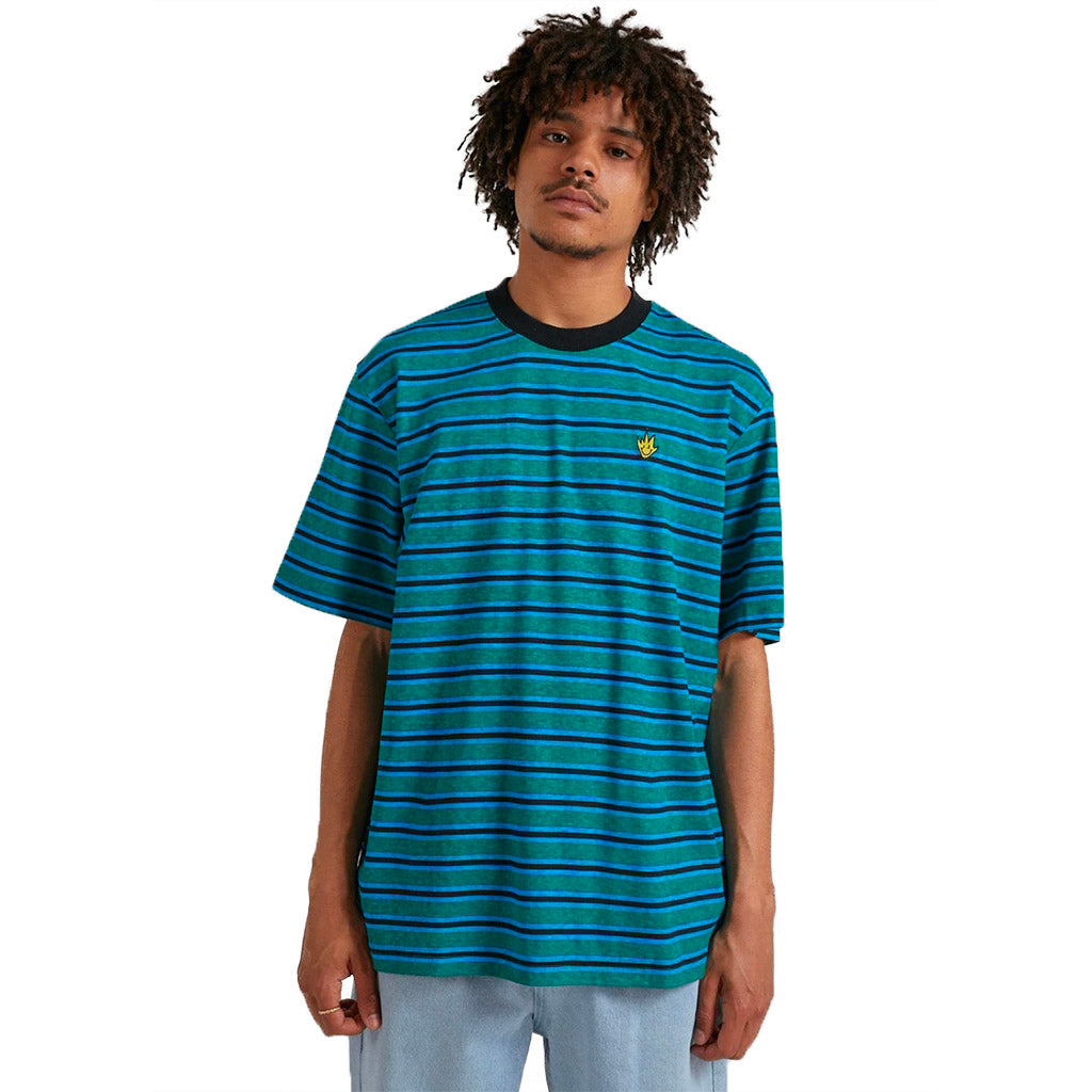 Afends Tyler Hemp Stripe Retro Fit T-Shirt - Mully