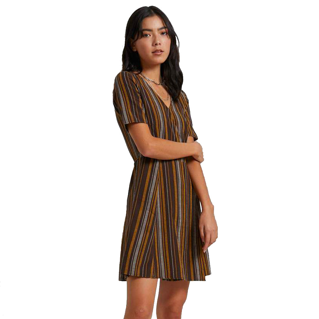 Afends Motel Wrap Dress - Bracken