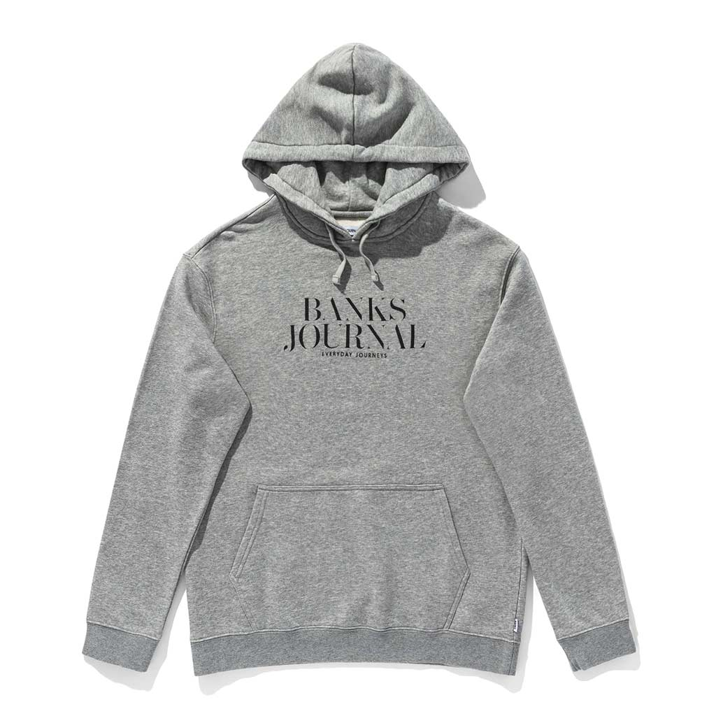 Banks Journal Heading Hoodie - Heather Grey