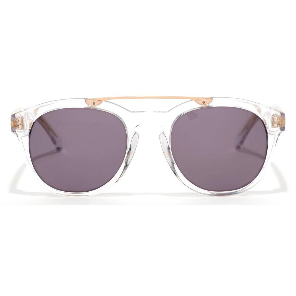 Epøkhe Anteka Sunglasses - Crystal Gloss Grey