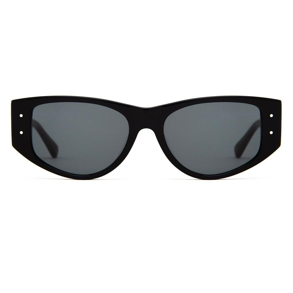 Epøkhe Eno Sunglasses - Black Polished / Green