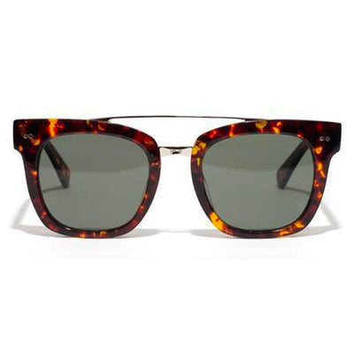 Epøkhe Isay Sunglasses - Tortoise Polished / Silver / Green