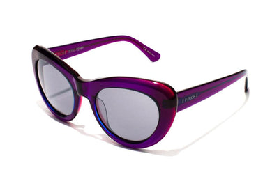 Epøkhe Klara Sunglasses - Transparent Purple Grey Chrome
