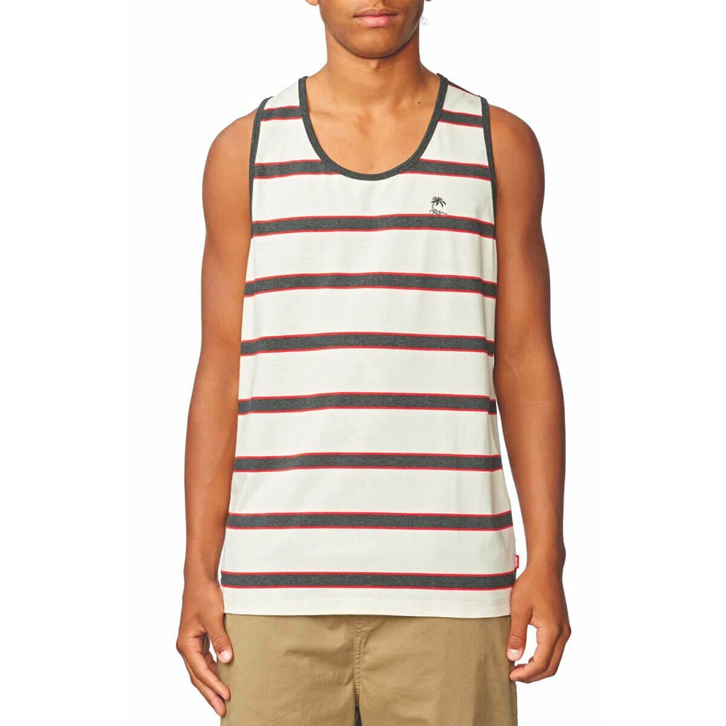 Globe Moonshine Stripe Singlet - Milk