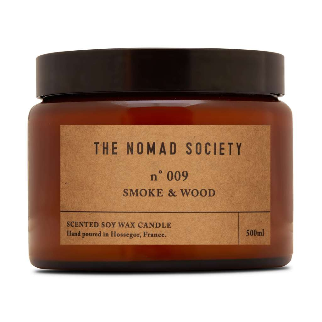 Nomad Society Smoke & Wood Soy Candle - 500ml