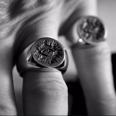 The Hunt NYC Large Signet Ring - .925 Sterling Silver
