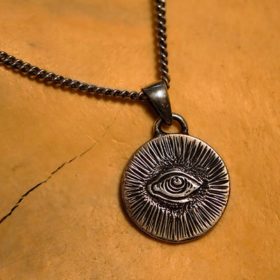 The Hunt NYC Eye Amulet Necklace -.925 Sterling Silver