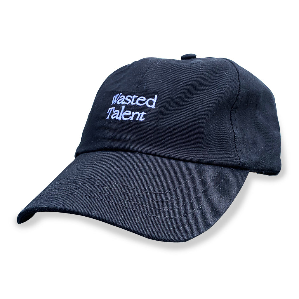 Wasted Talent Logo Dad Cap - Black