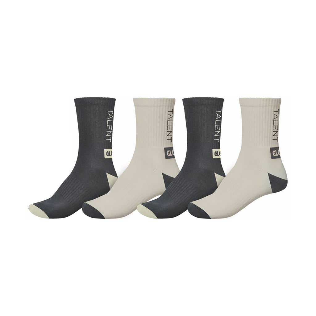 Wasted Talent | Globe Socks 2 pairs - White & Black