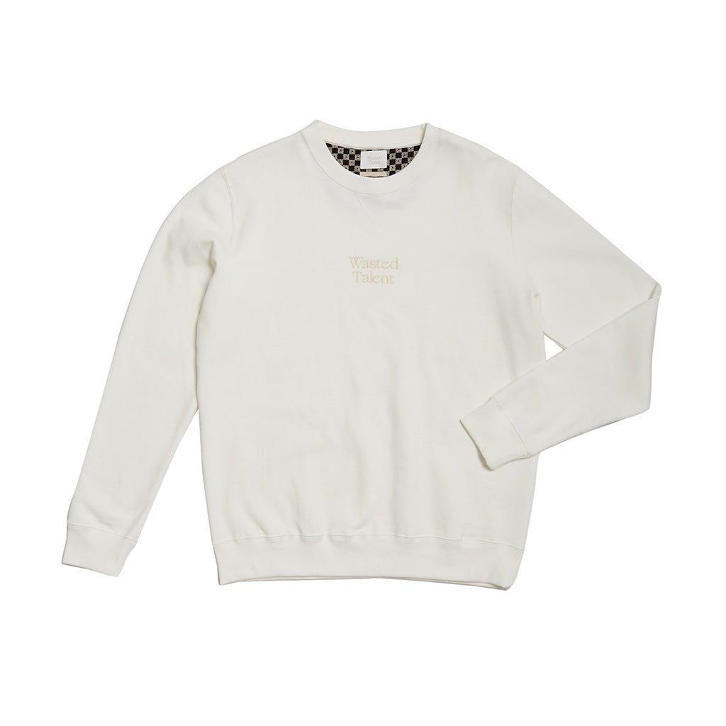 Wasted Talent Medoc Crew Neck - Off White
