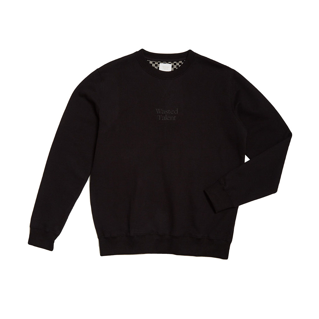 Wasted Talent Medoc Crew Neck - Black