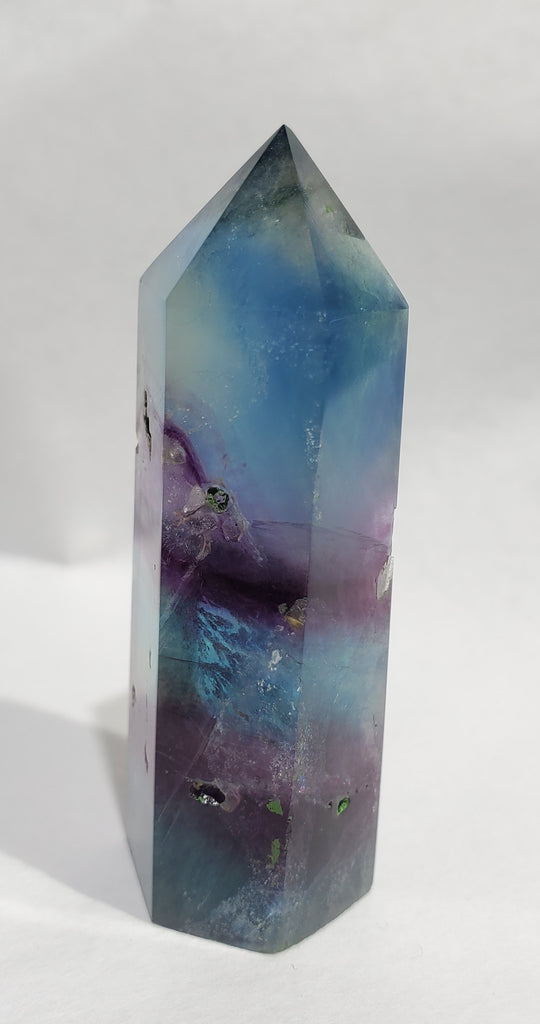 Rainbow Fluorite Point,  China