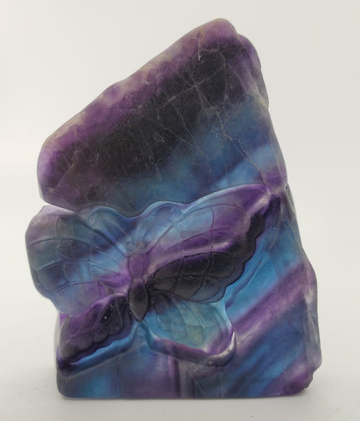 Fluorite with Butterfly Carving, China