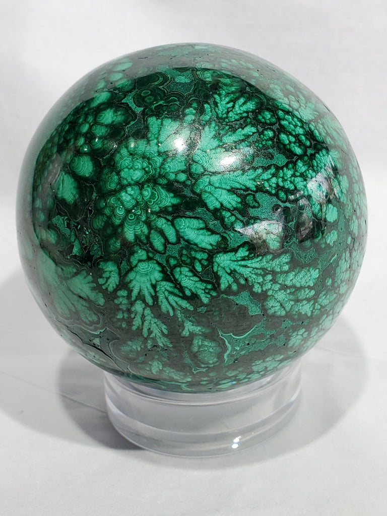 Malachite Sphere,  Congo