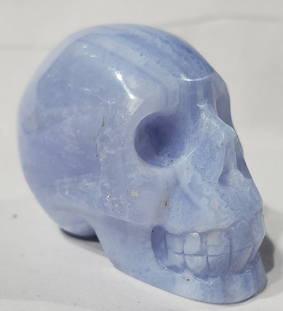Blue Lace Agate Skull, Indonesia