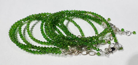 Faceted Chrome Diopside Bracelets, Russia