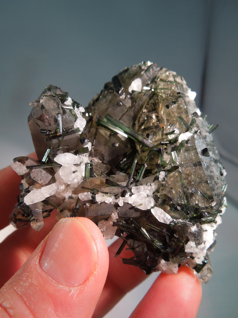 Quartz w/ Green Tourmaline