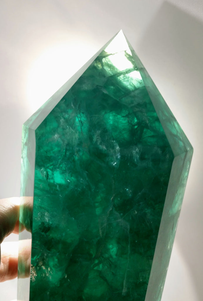 Double-Terminated Green Fluorite, 4.14 lbs