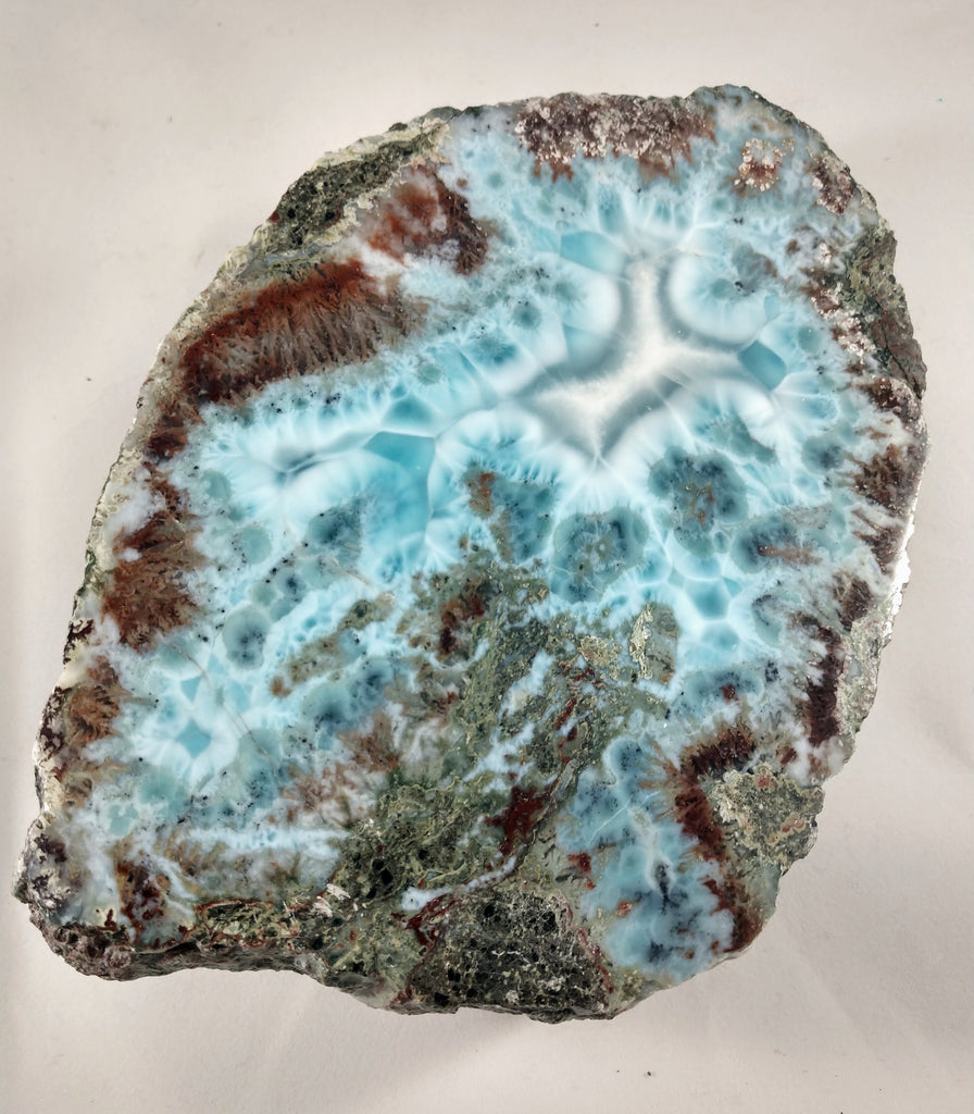 Larimar, One side polished