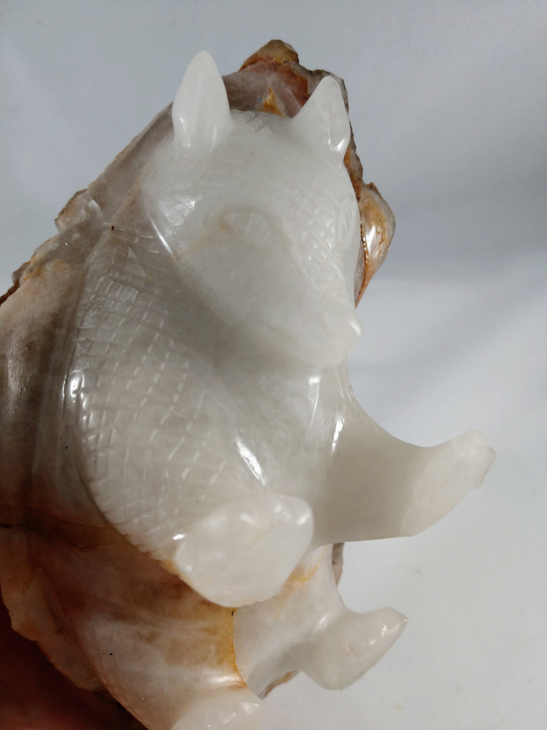 Quartz Armadillo with Elestial Shell