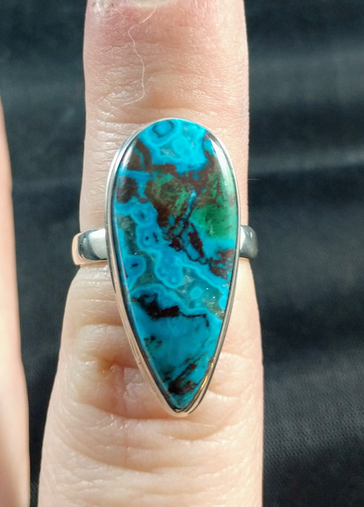 Chrysocolla Ring in Sterling Silver