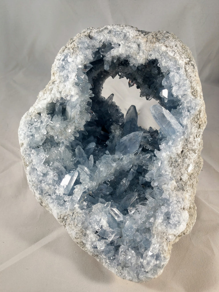 Celestite Geode from Madagascar, 8 lbs