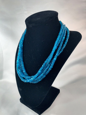Faceted Apatite Beaded Necklace