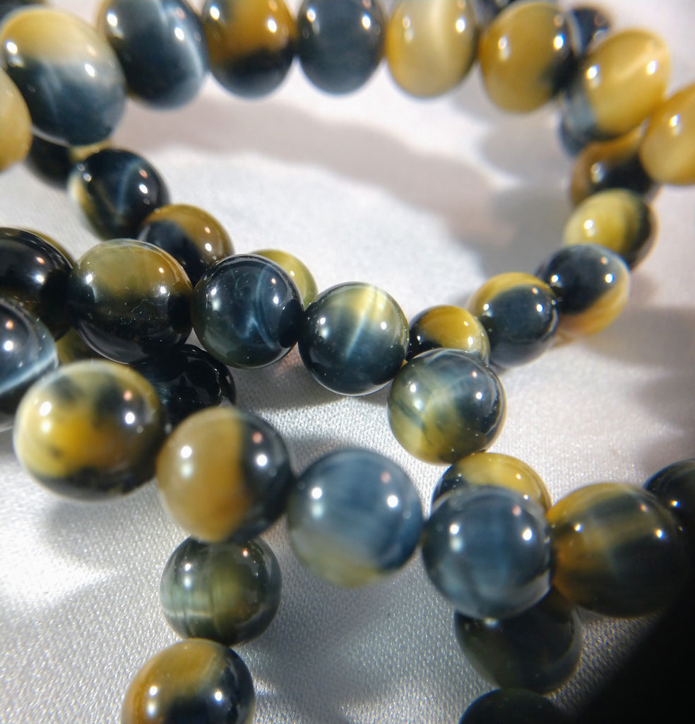 Blue and Yellow Tigers Eye Bracelet